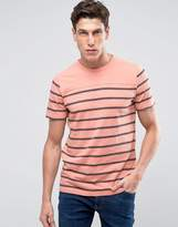 Abercrombie & Fitch Stripe T-Shirt In Coral
