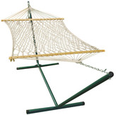 Algoma Net Company Rope Cotton Hammock with Stand