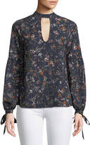 Tularosa Eli Floral-Print Long-Sleeve Blouse