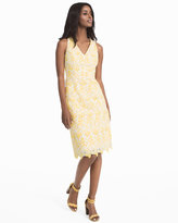 White House Black Market Tonal Lace Sheath Dress