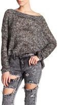 Glamorous Mixed Knit Scoop Neck Sweater