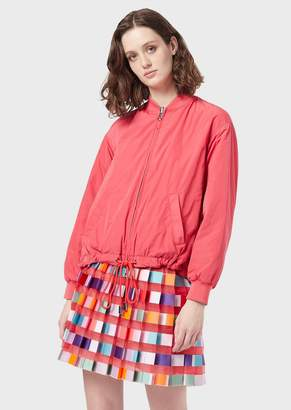 Emporio Armani Reversible Bomber In Two-Tone Taffeta