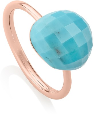 Monica Vinader 18K Rose Gold Plated Sterling Silver Nura Pebble Stacking Ring