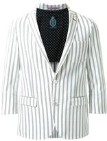GUILD PRIME double pinstripe single breasted blazer - men - Polyester/Polyurethane/Rayon - M