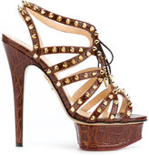 Charlotte Olympia studded platform sandals - women - Leather - 35