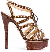 Charlotte Olympia studded platform sandals - women - Leather - 37.5