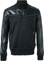 Just Cavalli zip up studded jacket - men - Cotton/Polyester - M
