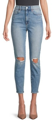 7 For All Mankind The High-Waist Ankle Skinny Jeans