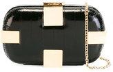 Corto Moltedo Susan Shock clutch bag - women - Brass/Eel Skin/Silk Satin - One Size