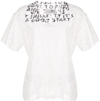MM6 MAISON MARGIELA Printed Neck Lace Blouse