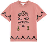 Burberry Graphic T-shirt with lurex - Rose blush