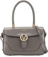 Valentino By Mario Valentino Gaele Smooth Leather Satchel Bag, Gray