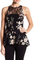 Zac Posen Sleeveless Lace Floral Embroidered Blouse