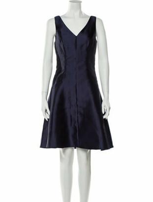 Lela Rose V-Neck Knee-Length Dress w/ Tags Rose