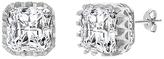 Bliss Sterling Silver & Cubic Zirconia Princess Cut Stud Earrings
