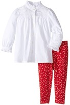 Ralph Lauren Batisite Cotton Jersey Floral Leggings Set Girl's Active Sets