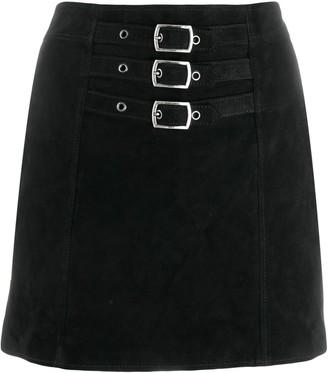 Saint Laurent Buckle-Embellished Mini Skirt