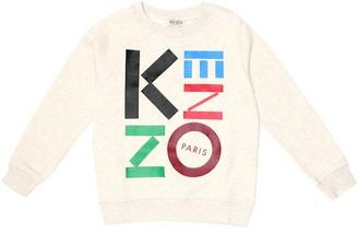 Kenzo Kids Logo cotton-blend jersey sweatshirt