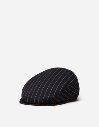 Dolce & Gabbana Pinstripe Wool Flat Cap
