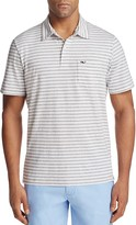 Vineyard Vines Pinstripe Jersey Regular Fit Polo Shirt