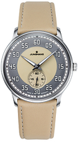 Junghans 027/3608.00 Meister Handwind Leather Strap Watch, Beige/grey