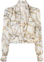 Nicholas leaf print blouse