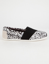 Toms x Prabal Gurung White Snow Leopard Classic Womens Shoes