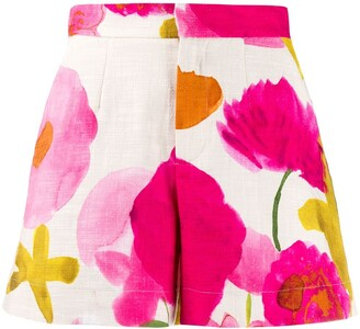 La DoubleJ x Mantero floral fitted shorts