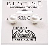 Crystallite Destine White Pearl 8mm Earrings