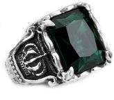 Epinki Stainless Steel Mens Gothic Crown Rings Vintage Stone Ring Size 8