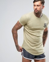 SikSilk Neps T-Shirt With Curved Hem