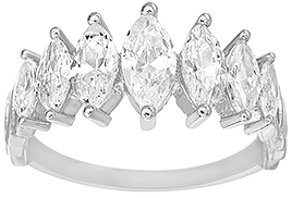 Bliss Sterling Silver & Cubic Zirconia Marquise Ring