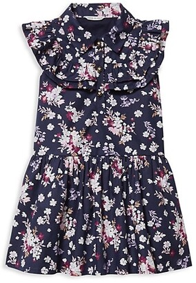 Janie and Jack Baby's, Little Girl's & Girl's Floral Cotton Poplin Dress