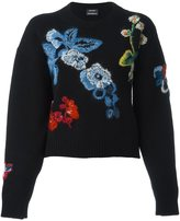 Anthony Vaccarello embroidered floral jumper