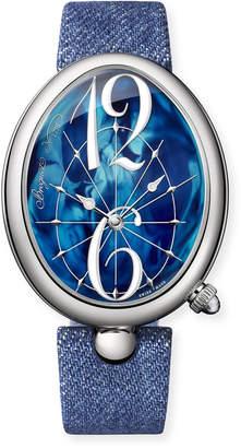 Breguet Reine de Naples Oval Watch w/ Blue Jean Strap