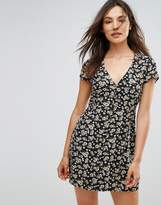 Goldie Floral Printed Button Up Front Dress