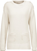 Nina Ricci Embroidered ribbed cotton and silk-blend sweater