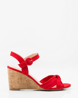 Le Château Knotted Criss-Cross Wedge Sandal