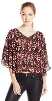 Jessica Simpson Women's Reece Blouse DBL V-Top-Pink