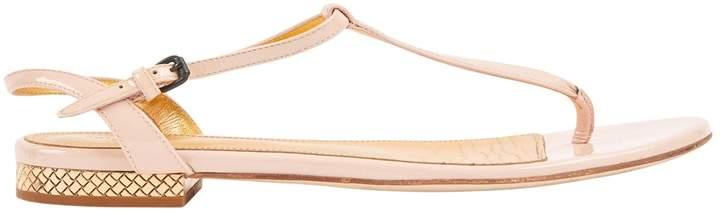 Bottega Veneta Pink Patent leather Sandals