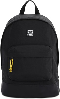 Diesel Rubber Patch Logo Nylon Backpack