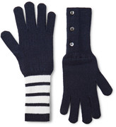 Thom Browne - Striped Cashmere Gloves