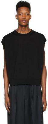 Fumito Ganryu Black Crewneck Sweater Vest