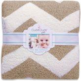 Cuddl Duds 30-Inch x 30-Inch Chevron Plush Knit Baby Blanket