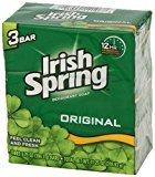 (PACK OF 39 BARS) Irish Spring ORIGINAL SCENT Bar Soap for Men & Women. 12-HOUR ODOR / DEODORANT PROTECTION! For Healthy Feeling Skin. Great for Hands, Face & Body! (39 Bars, 3.75oz Each Bar)