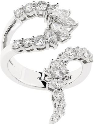 YEPREM White Gold and Diamond M-Pulse Ring