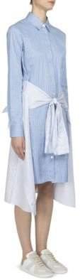 Maison Margiela Tie-Front Cotton Shirtdress