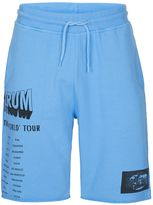 Topman Blue Print Raw Jersey Shorts