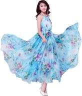 Medeshe Women's Summer Floral Long Beach Maxi Dress Lightweight Sundress