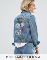 Glamorous Petite Painted Denim Jacket